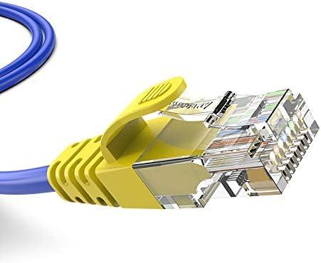 Color : Blue, Size : 0.5m HXSD AMPCOM Ethernet Cable RJ45 Cat5e LAN Cable UTP CAT 5e RJ 45 Network Cable Patch Cord 100Mbps 100Mhz 24AWG for Desktop Computer