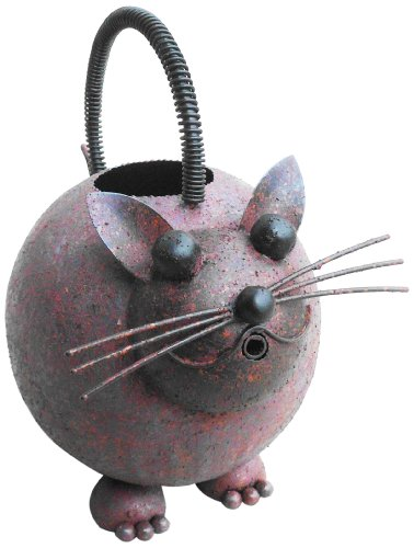 D-Art Collection Iron Watering Can, Cat -