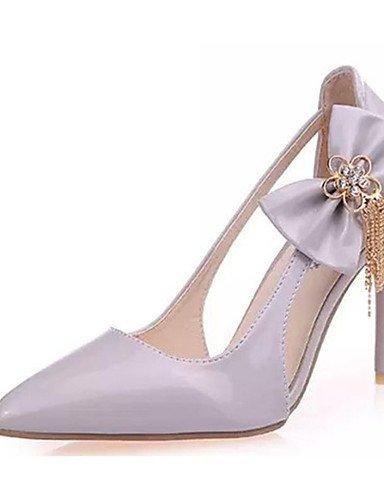GGX  Damenschuhe-High Heels-Lässig-PU-Stöckelabsatz-Absätze-Rosa   Weiß   Grau B01KL78L2K Sport- & Outdoorschuhe Neuankömmling