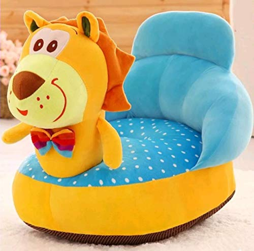 HOME WAY Tiger Shape Baby Soft Plush Cushion Baby Sofa Seat or Rocking Chair for Kids (Yellow, 0 to 4 Years)