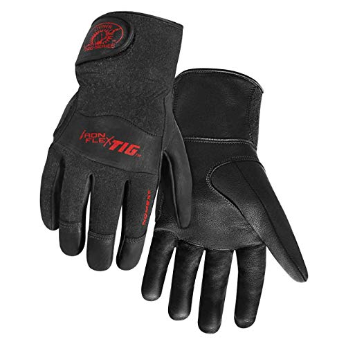Steiner 0260-M SPS Ironflex TIG Gloves, Black Grain Kidskin Nomex Back Velcro Cuff, Medium