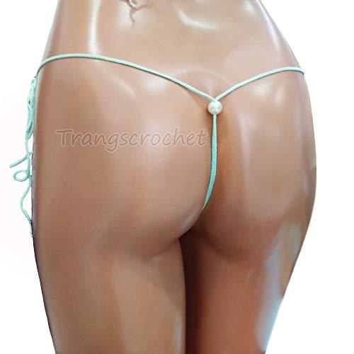 d546b12db5ef7 Extreme micro mini bikini thong g-string extreme micro bikini bottom  crochet mermaid bikini bottom women