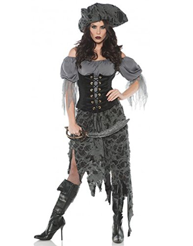 Women's Tattered Ghost Pirate Zombie Costume - X-Large
