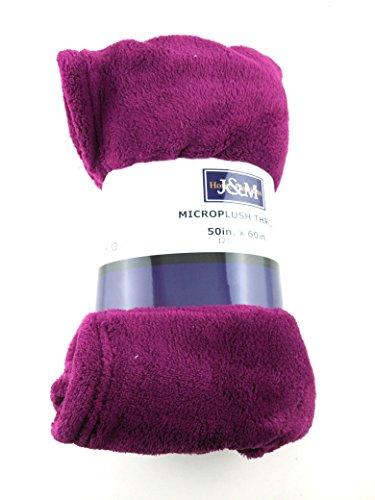 J & M Home Fashions Magenta Purple Microplush Fleece Throw Blanket, 50