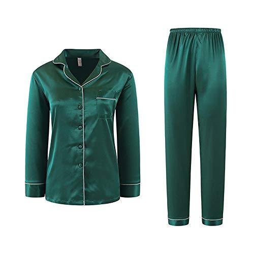 Seta Notte Meaeo Pigiami Color Pigiami Photo Pantaloni Di Homewear Maniche Da Addormentati Pigiami Lunghe A Vestiti BBHpC7xrn