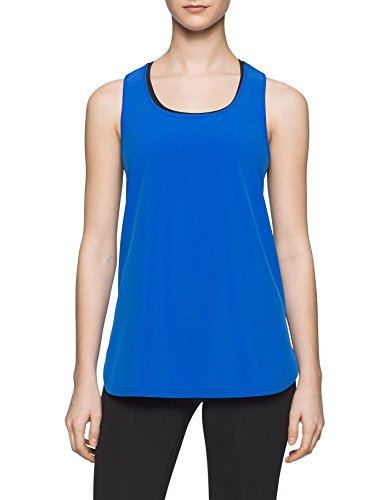 Calvin Klein Performance Commuter Active Tank, L, Radiant Blue