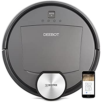 ECOVACS DEEBOT R95 Robotic Vacuum with the latest mapping technology, Wi-Fi and Alexa; perfect for bare floors or carpets, and homes with pets