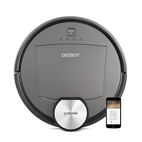 ECOVACS DEEBOT R95 Robotic Vacuum with the latest mapping technology, Wi-Fi and Alexa; perfect for bare floors or carpets, and homes with pets by ECOVACS