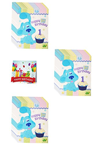 Card Birthday Blues Clues - Blue's Clues 1st Birthday Party Invitations Pack of 24