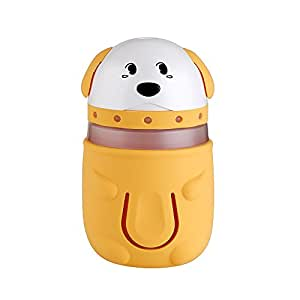 DeepDream USB Air Humidifier Cute Dogs Cool Mist Humidifier with LED Lamp Humidifier Lighting Air Diffuser Purifier Atomizer for Car Home Mist Maker (Yellow)