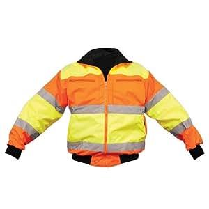 OK-1 4202 Size Extra Large Lime and Orange Reversible Bomber Jacket