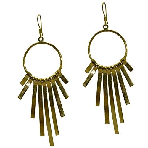 plaqué or Riyo Plain boucle d'oreille scenicbonny bijoux faits main contemporaine gpepla-120010