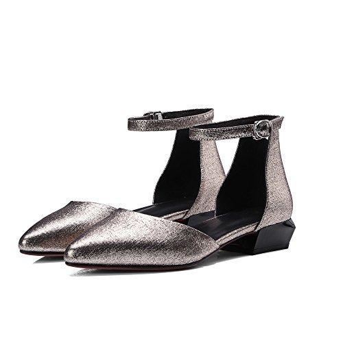 MUYII Sandales D'été Pour Femmes Pour Les Femmes Bout Pointu Chaussures à Boucle Gold PcaOAmR