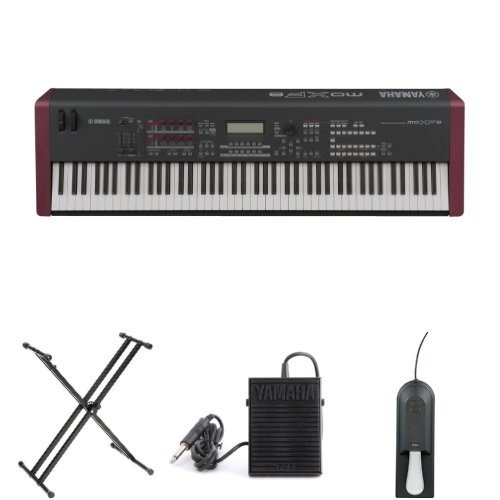 Yamaha MOXF8 Synth BUNDLE w/ Stand & Pedals