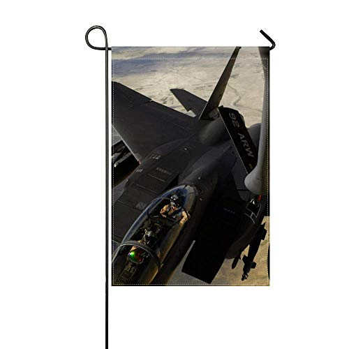 DongGan Garden Flag F-15e Strike Eagle Us Air Force Aircraft Refueling 12x18 Inches(Without Flagpole)
