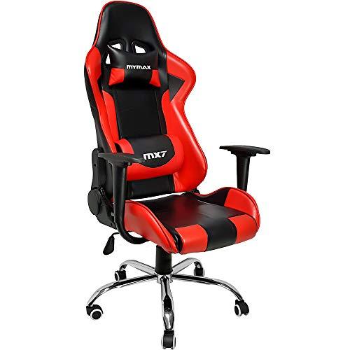 Cadeira Gamer Mx7, Mymax, 25.008788, Vermelho/ Preto