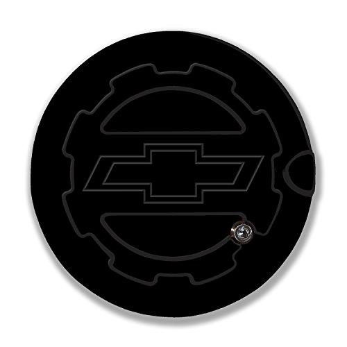 American Brother Designs ABD-1406BTGBA Black Gloss OEM Paint Silverado (Bowtie Logo) Locking Fuel Door