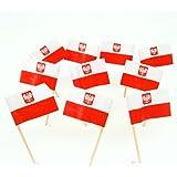 Poland | Polish Flag With Coat of Arms Toothpicks (100)