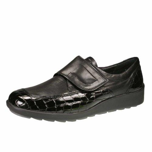 ara Womens L.Velcro Shoes Black Wide H Size 6.5 B(M) US