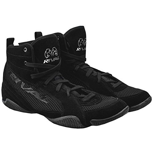 RIVAL BOXING BOOTS-LOW TOPS WITH MESH (BLACK, 6)