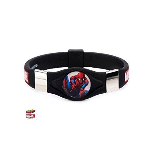 Athena Brand Marvel Spider-Man Logo Silicone Bracelet in Gift Box -