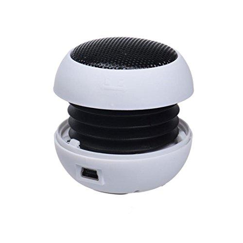 Mini Speaker,Womail subwoofer Hamburger Speaker for iPod iPad Laptop iPhone Tablet PC White