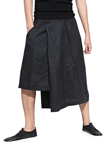 Mens Capri New Pants - ELLAZHU Men Summer Casual Wide Leg Capri Pants GYM136, One Size
