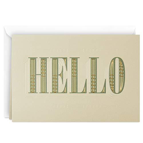 Hallmark Blank Card (Hello) - Enclosure Personalized Gift