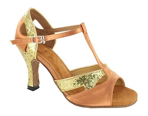 Latin Sparkle T Dance Champagne Ballroom Salsa Classic Comfort TDA Tango Satin Women's Strap Shiny Sandals qCxvCIzHw