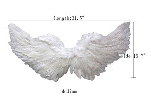 Dark Angel Makeup For Halloween - ROLECOS Spread Feather Angel Wings Halloween