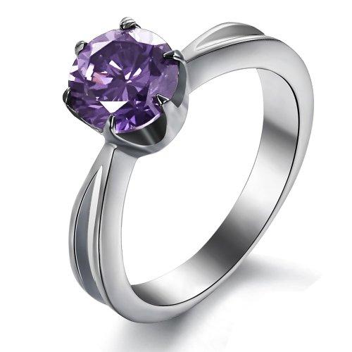 Swiss CZ Crystal Diamond Wedding Ring - 1