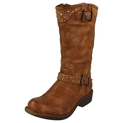 Style Ladies Tan Calf Mid Coco L9341 Boots HnRI0q