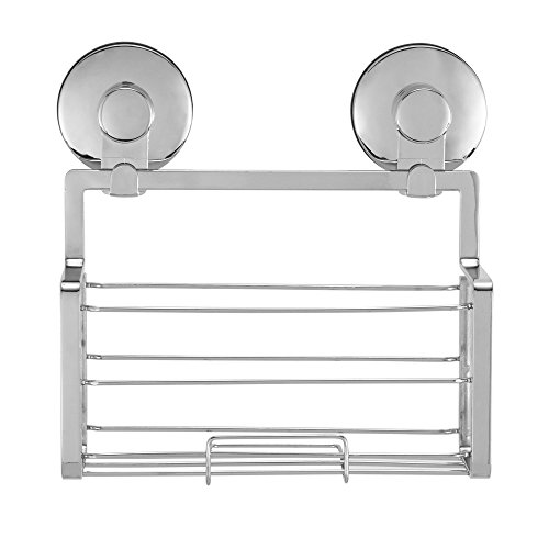 Everloc Solutions Chrome Suction Cup Shower Caddy