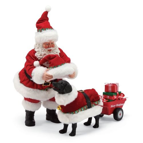 Figurine Dog Collectible (Department 56 Santa and His Pets Dog Days of Christmas Figurine, 10