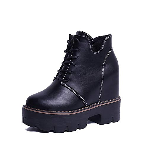 Black 5.5 US Black 5.5 US Women's Fashion Boots PU (Poliuretano) Winter Boots Creepers Round Toe Booties /Ankle Boots Black /Brown
