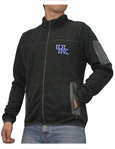 Kentucky Wildcats Jackets (Mens NCAA Pro Quality Zip-Up Polar Fleece Fall / Winter Jacket: KENTUCKY WILDCATS M Dark Grey)