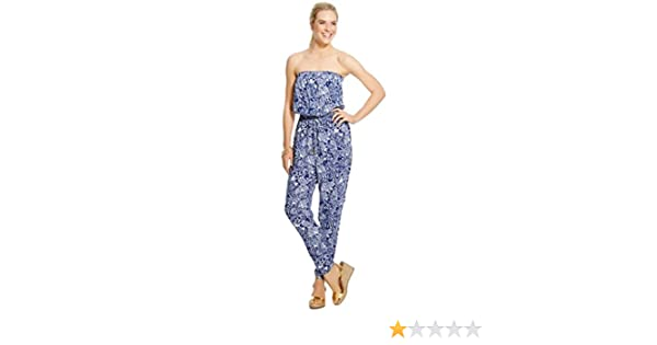 4d0c9015c3ac Amazon.com  Lilly Pulitzer for Target Women s Strapless Jumpsuit XX-Large  Upstream  Clothing