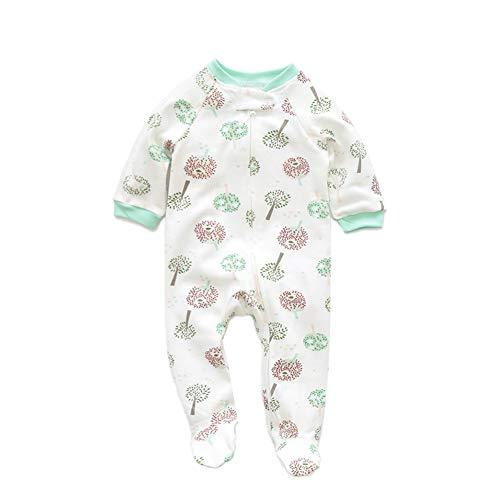 JooNeng Newborn Baby Cotton Footies Romper Infant Long Sleeve Animal Plant Printed Sleeper Pajamas Onsies,Tree -
