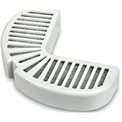 Pack of 4, Keeps Water Fresh & Clean Replacement Filters for Ceramic & Stainless Steel Fountains