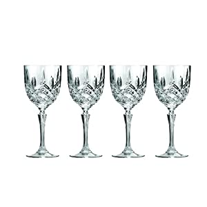 set of 4 marquis by waterford markham wine glasses beautifully designed short stem wine glasses premium crystal red and white wine 12 ounces