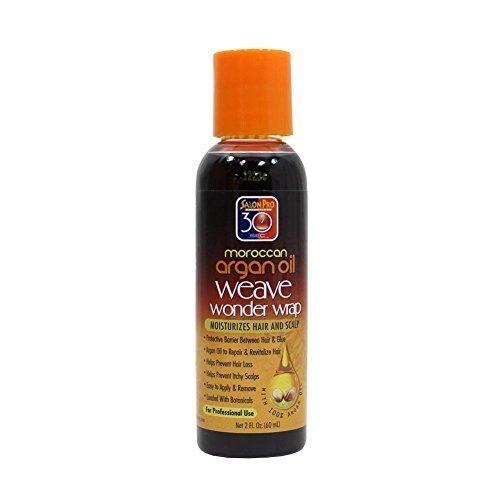Salon Pro 30 Sec Moroccan Argan Oil Weave Wonder Wrap Moisturizes Hair & Scalp 2oz - Dark