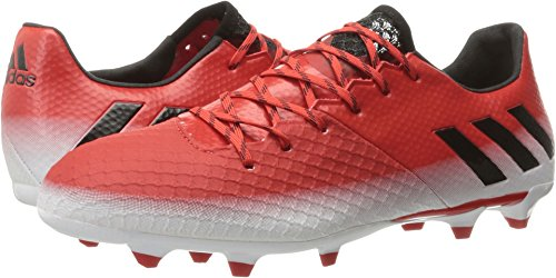 adidas Men's Messi 16.2 Firm Ground Cleats Soccer Shoe, Red/Black/White, (10 M US)