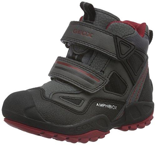 Geox Jungen J New Savage Boy B Abx C Sneakers, Grau (Grey/BLACKC0043), 27 EU