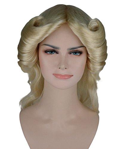 [WOMEN'S LONG WAVY WIG IN BLONDE (Farrah Fawcett Style) HW-258] (Farrah Fawcett Wig)