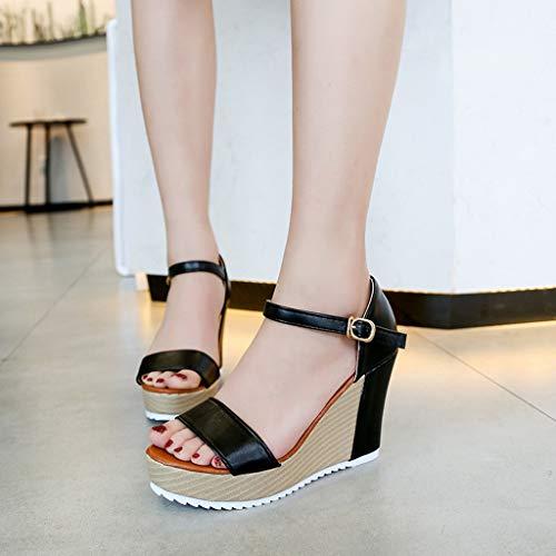Ciabatte Donna ❤promozione Casa Estive Con pantofole Da Tacco Peep Toe Eleganti Sandal Le Platform Donna sandali Zeppa Rosa Open Scarpe Donne Fwv5w