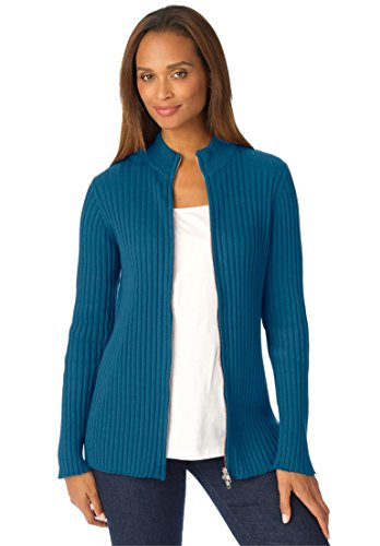Ribbed-Cotton-Cardigan-With-Zip-Front