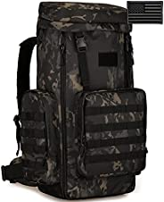 Protector Plus Tactical Hiking Daypack 70-85L Military MOLLE Assault Backpack (Rain Cover & Patch Inclu