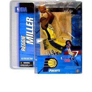 Mcfarlane NBA Series 7 Reggie Miller Indiana Pacers Yellow Jersey Chase Alternate Variant Action Figure (Alternate Jersey Pacers)
