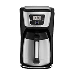 BLACK+DECKER CM2035B 12-Cup Thermal Coffeemaker, Black/Silver