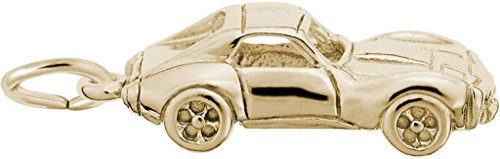 Rembrandt Classic American Sports Car Charm - Metal - Gold-Plated Sterling Silver
